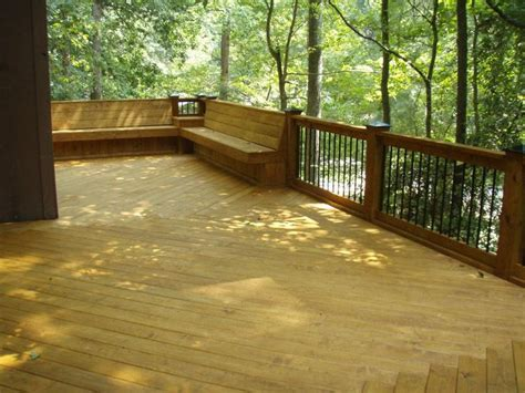deck railing with bench seating 10 best images about deck railings on pinterest deck