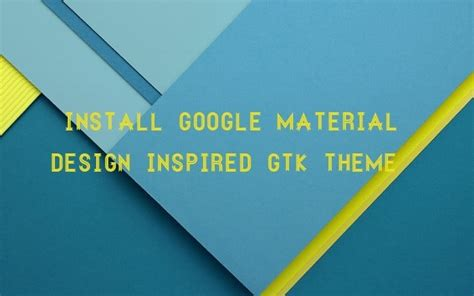 material design inspired paper theme for ubuntu install material design paper theme in linux