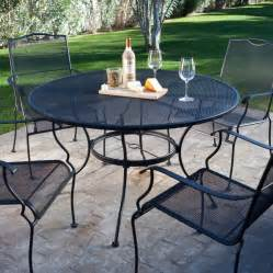 5 wrought iron patio furniture dining set seats 4