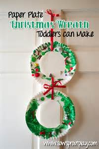 Paper Plate Wreath Crafts - 17 best photos of easy wreath paper plate craft