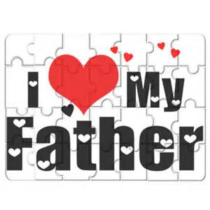 i love my father on photo puzzle 7 quot x 9 quot size