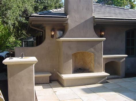 stucco on your outdoor fireplace bbq or entertainment