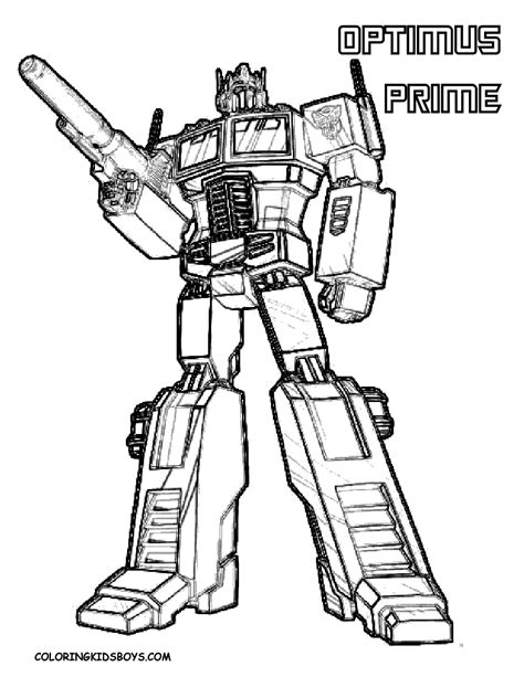 Transformers Coloring Pages Optimus Prime Gt Gt Disney Transformer Color Pages