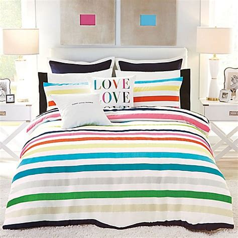 Kate Spade New York Candy Stripe Comforter Set Bed Bath Kate Spade Bed Set