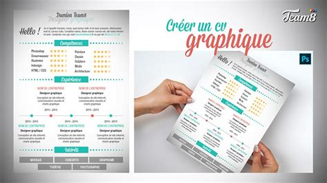 cv graphique photoshop tuto photoshop cr 233 er un template