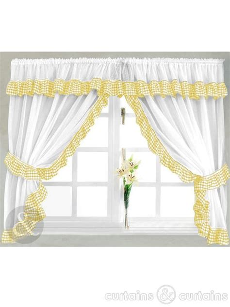 25 best ideas about yellow kitchen curtains on
