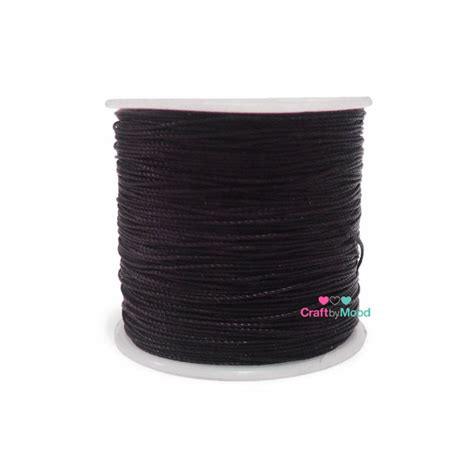 Rounded Wax Thread Benang Lilin Bulat Diameter 0 6 Mm polyester wax brown color diameter 0 65mm