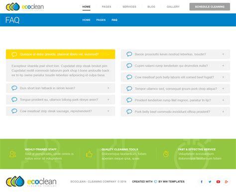 faq bootstrap template choice image templates design ideas