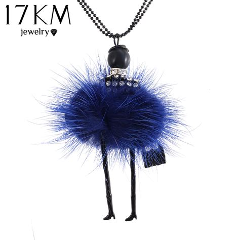 fashion doll necklace 17km fashion doll necklace chain pendant necklace for