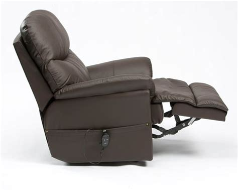 electric recliner chairs restwell lars leather electric recliner chair