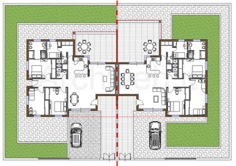 Pianta Casa Bifamiliare by Residenze Bi Familiari Dwg