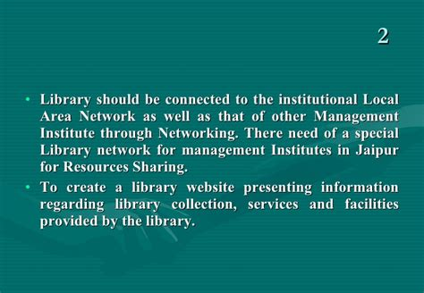 Mba Institutes In Jaipur by Local Area Network Lan In Library And Information