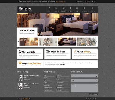 html themes templates memento un template html free your inspiration web