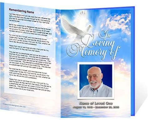 downloadable funeral bulletin covers beautiful funeral