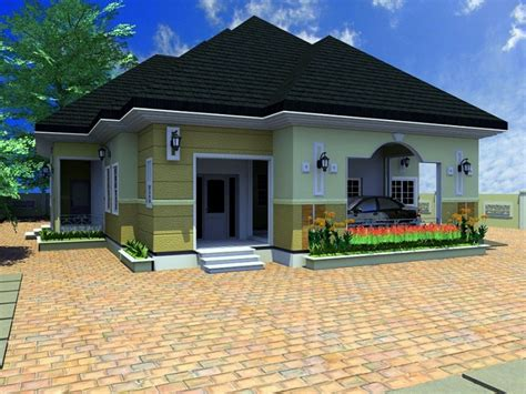 Images Of 4 Bedroom Houses by 3d Bungalow House Plans 4 Bedroom 4 Bedroom Bungalow House