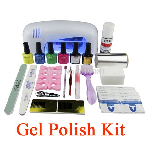 gel nail polish kit with uv light gel polish set soak off led uv gel kit uv 9w curing l