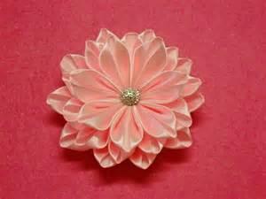 Handmade Ribbon Flower Tutorial - kanzashi tutorial on kanzashi flowers ribbon