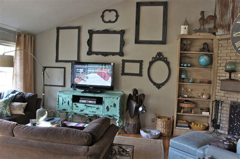 wall frames for living room wall of frames eclectic living room nashville by