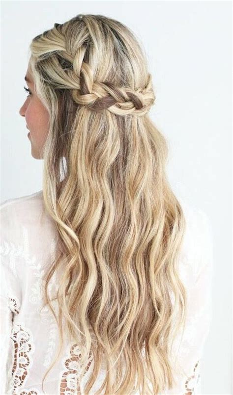 wedding hairstyles down pinterest half up half down hair pinterest crown braids