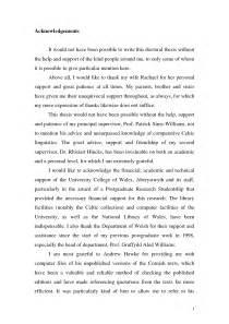 Acknowledgement Letter Thesis Sle Acknowledgement Page For Thesis