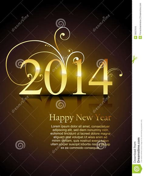 beautiful happy new year design golden happy new year design royalty free stock image