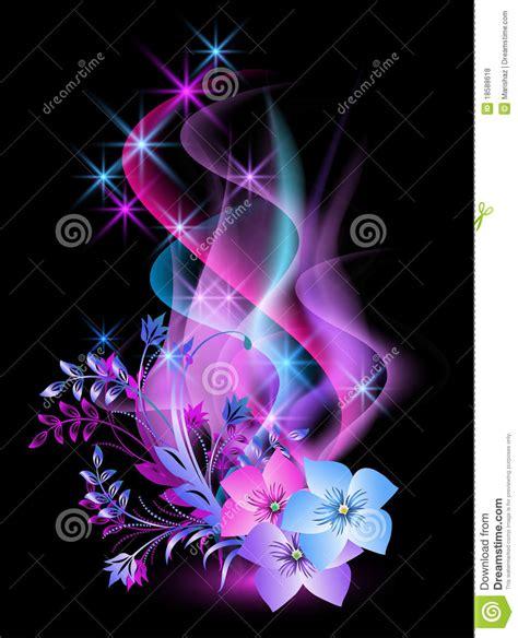 imagenes rosas dark glowing background with flowers stock vector image 18588618