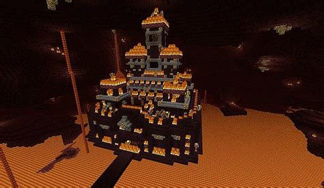 Minecraft Guide To The Nether The End the nether fortress of minecraft project