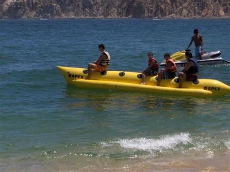 banana boat ride mexico hubby and kids on banana boat ride picture of cabo san