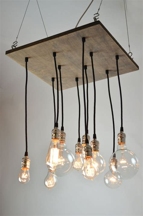 On Sale Square Industrial Style Chandelier Light Fixture Edison Style Light Fixtures