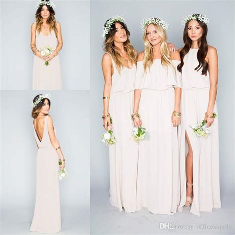 arrival  summer beach bohemian bridesmaid dresses