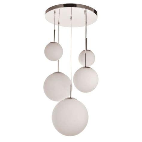 lustre 3 boules suspension lustre luminaire plafond boules verre opale