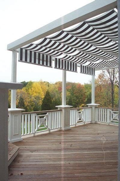 retractable awning for deck sun backyards and outdoor living on pinterest