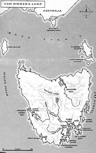 MAP 2 - Van Diemen's Land (Tasmania)