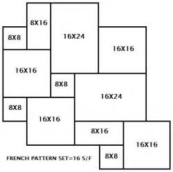 How To Lay Brick Patio Travertine French Pattern Tumbled Pavers Scabas