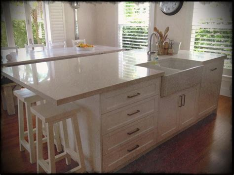 kitchen large island with sink for and stove top