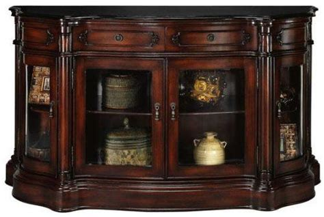 Console Cabinet With Doors Baymont Brown Console Curio Cabinet With Four Glass Doors Glass Doors Plymth Brw Mhgn