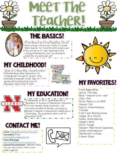 Introduction Letter For Kindergarten 25 Best Ideas About Introduction Letter On Back To School Newsletter