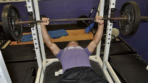 senior bench press records at the top gm senior presses on running back sets school