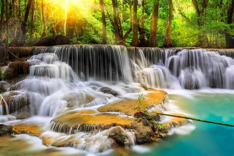 Landscape Pictures Waterfalls Waterfall River Landscape Nature Waterfalls Wallpaper