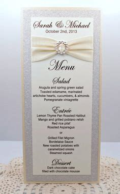 Handmade Menu Cards - ivory wedding menu card of bling sparkle and dazzle