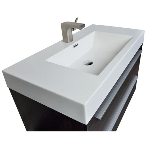charcoal grey bathroom vanity 35 5 in wall mount modern bathroom vanity in high gloss