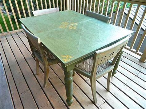 Thrift Store Dining Table Outdoor Thrift Store Dining Table Project By Decoart