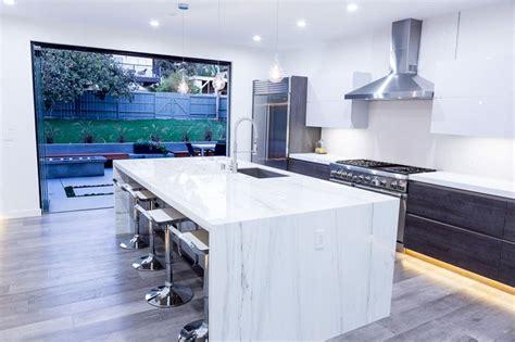 calcutta marble island contemporary kitchen ken beautiful black and white kitchen the chef s dream