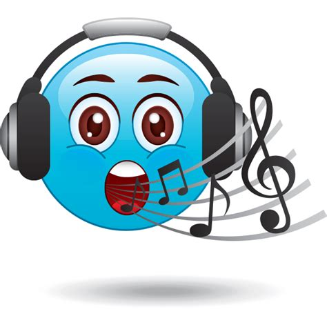 singing emoji singing smiley symbols emoticons