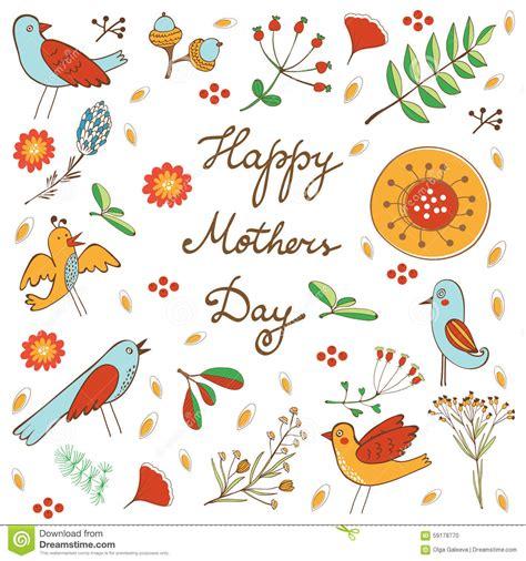 s day mp4 free 与花和鸟的愉快的母亲节卡片 向量例证 图片 包括有 符号 抽象 庆祝 设计 月桂树 妈妈 要素