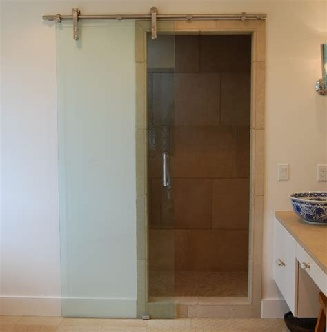 steel barn door transparent bathroom sliding glass door with steel barn