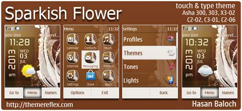nokia c2 03 rose themes sparkish flower theme themereflex