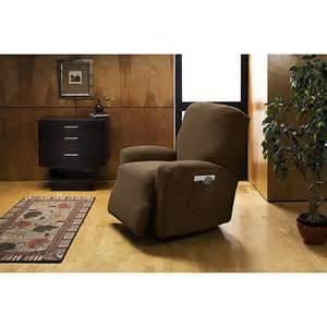 corduroy stretch recliner slipcover cocoa decor