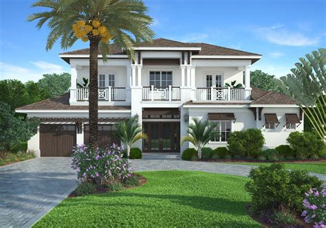 edgewater 4 bedroom 3 5 baths 2 story 2 car garage coastal contemporary design by south