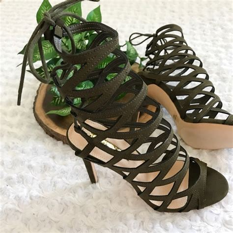 olive green high heels new olive green gladiator lace up high heels 7 5 from